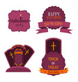 halloween badges and labels set isolated sign vector image vector image