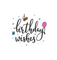 happy birthday party lettering typography set vector image