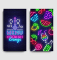 hookah lounge menu design template hookah vector image