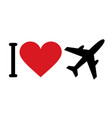 i love planes vector image