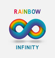 infinity rainbow abstract sign design element vector image