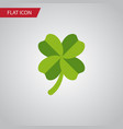 isolated leaf flat icon leafage element vector image