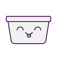 laundry basket kawaii character vector image