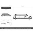 limousine line icon vector image vector image