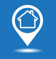 map pointer house icon vector image vector image