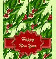 new year greeting card template vector image vector image