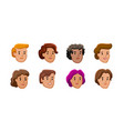 people icons set male and female faces avatars vector image