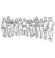 people yoga class standing together vector image vector image