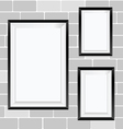 picture frame on brick wall vector image