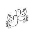 pigeons line icon concept pigeons linear vector image