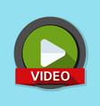 play video button vector image vector image
