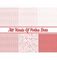 Polka Dot Round Background Set vector image vector image