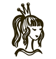 princess beauty queen vector image vector image