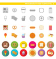 processed food icons 002 vector image vector image