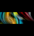 rainbow fluid abstract shapes liquid colors vector image vector image