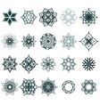 Ramadan Kareem geometric ornamental signs vector image