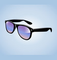 realistic vintage sunglasses isolated vector image vector image
