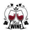 red wine cups label vector image vector image