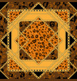 repeating leopard tile vector image vector image