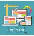 Responsive web design application development and vector image vector image