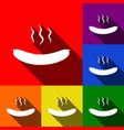 sausage simple sign set of icons with vector image vector image