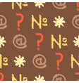 seamless background with punctuation marks vector image vector image