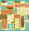 seamless exotic tiki pattern vector image