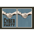 Set of Cyber party posters vector image
