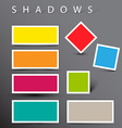 Set of shadow effects vector image