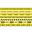 set restriction tapes police line crime scene vector image vector image