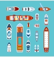 Ships top view flat icons set vector image