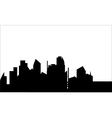 Silhouette of home town vector image