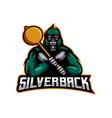 silverback gaming vector image vector image