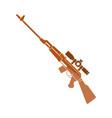 sniper rifle icon vector image vector image
