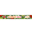 summer sale horizontal web banner vector image vector image
