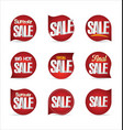 summer sale retro badge collection 2 vector image