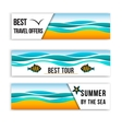 summer sea banners collection summer inspired vector image vector image