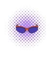 Sunglass icon comics style vector image vector image