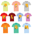 T-shirts with pictures of animals and words on it vector image vector image