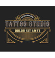 tattoo logo template with vintage ornaments vector image vector image