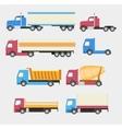 Trucks set Flat style icons vector image