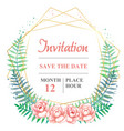 watercolor invitation template with delicate vector image