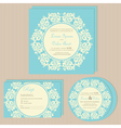 wedding invitations blue set vector image vector image