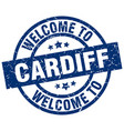 welcome to cardiff blue stamp vector image vector image