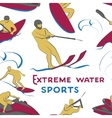 Extreme water sports pattern vector image