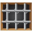 prison bar 01 vector image