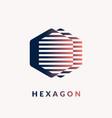 modern logo geometric hexagon vector image