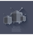 modern tv icons background Eps 10 vector image